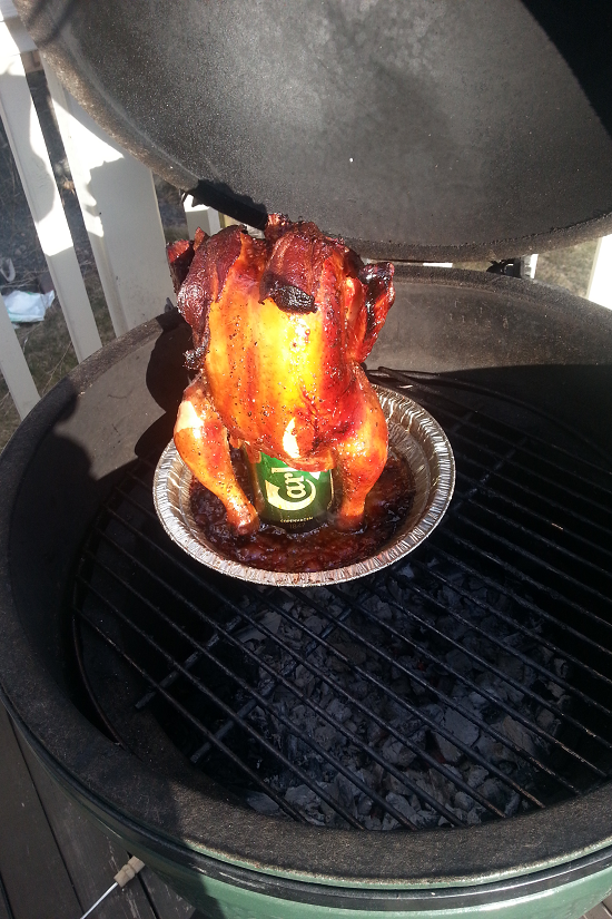 Recipe: Beer Can Chicken On Big Green Egg - Like A Dad